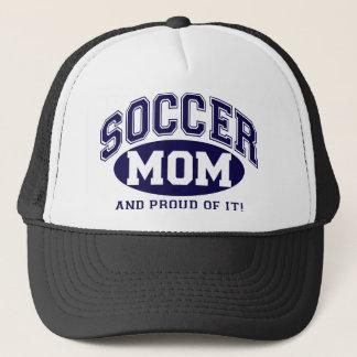 Fußball-Mamma und stolzes auf es! - Marine-Blau Truckerkappe