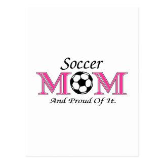 Fußball-Mamma und stolzes auf es Postkarte