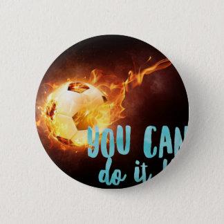 Fußball-motivierend Inspirational Erfolg Runder Button 5,7 Cm