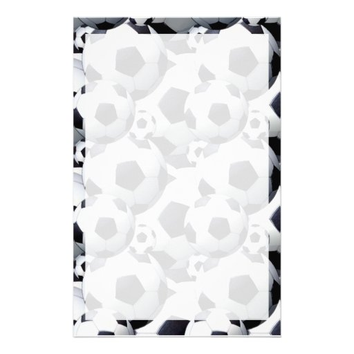 Fußball-Muster Bedrucktes Büropapier