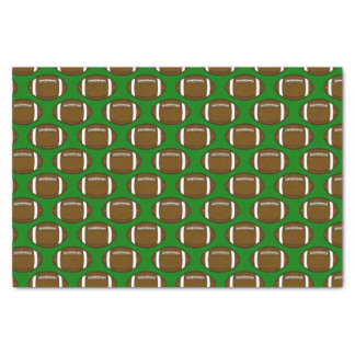 Fußball-Muster-Entwurf auf grünem Feld Seidenpapier