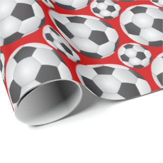 Fußball-Muster Geschenkpapier