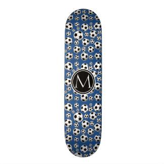Fußball-Muster-klassisches Blau Personalisierte Skateboards