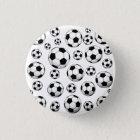 Fußball-Muster Runder Button 3,2 Cm