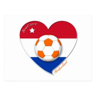 Fußball Netherlands. NEDERLAND nationales Team soc Postkarten