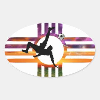 Fußball-New Mexiko Ovaler Aufkleber