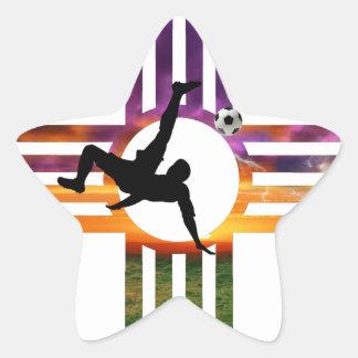 Fußball-New Mexiko Stern-Aufkleber