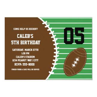 Fußball-niedliche genähte Geburtstags-Party Karte