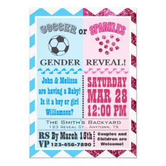 Fußball-oder Glitzern-Geschlecht decken Einladung