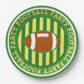Fußball-Party-Papier-Teller Wisconsins Greenbay Pappteller