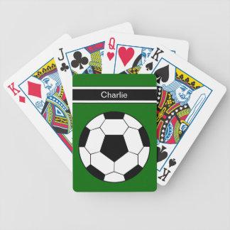 Fußball-personalisierte Spielkarten
