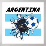 Fußball-Plakat Argentiniens Futbol