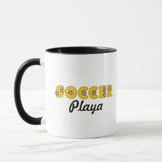 Fußball Playa im Gold Tasse