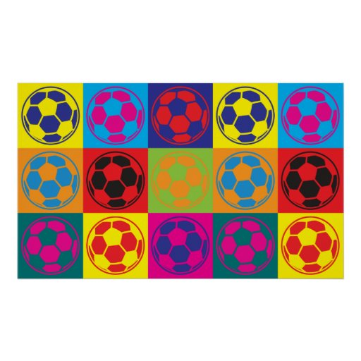 Fußball-Pop-Kunst Plakatdruck