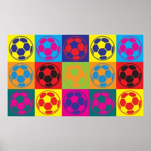 Fußball-Pop-Kunst Poster