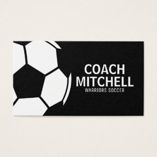 Fußball-Proschwarzes Visitenkarte