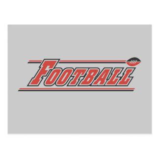 Fußball-rote T - Shirts und Geschenke Postkarte