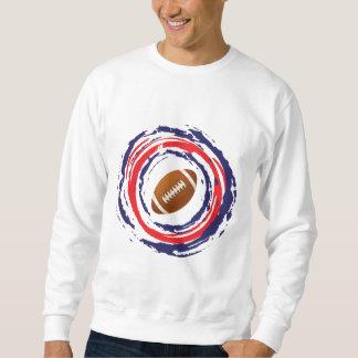 Fußball-rotes Blaues und weiß Sweatshirt