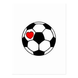 Fußball (rotes Herz) Postkarte