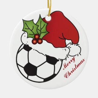 Fußball-Sankt Hut-Weihnachten Keramik Ornament