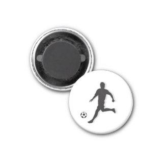 Fußball-Schach UMBAU Mittelfeldspieler (Bischof) - Runder Magnet 2,5 Cm