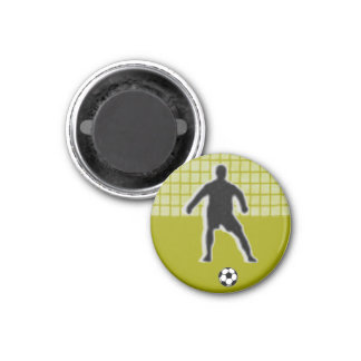 Fußball-Schach UMBAU Torhüter (König) - Grün-L Runder Magnet 3,2 Cm