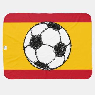 Fußball-Skizze mit Flagge von Spanien Babydecke