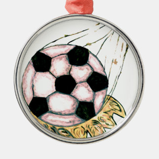Fußball-Skizze Silbernes Ornament