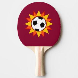 Fußball-Sonnendurchbruch Tischtennis Schläger