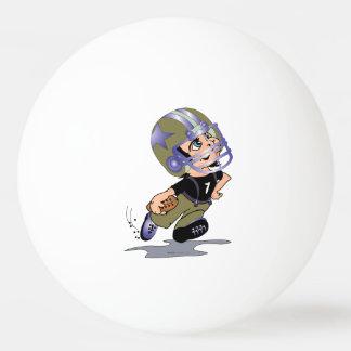 FUSSBALL-SPIELER-CARTOON-BALL VON PING PONG TISCHTENNIS BALL
