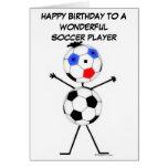 Fußball-Spieler-Geburtstag Karte