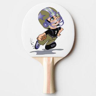 FUSSBALL-SPIELER Klingeln Pong Paddel-ROTE Tischtennis Schläger