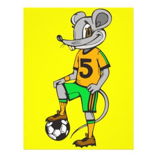 Fußball-Spieler-Maus Flyer