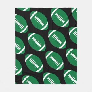 Fußball-Spieler oder Fan-große grüne Fußball-Decke Fleecedecke