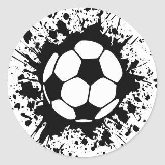 Fußball splat. runder aufkleber