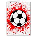 Fußball splat. karte