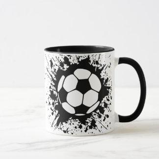 Fußball splat. tasse