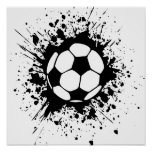 Fußball splatz plakatdrucke