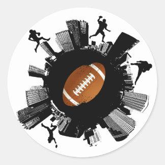 Fußball-Stadt Runder Aufkleber
