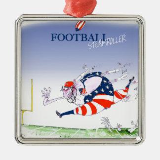 Fußball Steamroller, tony fernandes Silbernes Ornament