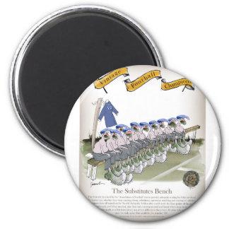 Fußball subs Blues Runder Magnet 5,7 Cm