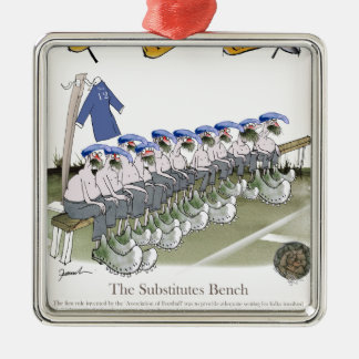 Fußball subs Blues Silbernes Ornament