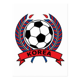 Fußball Südkorea Postkarte