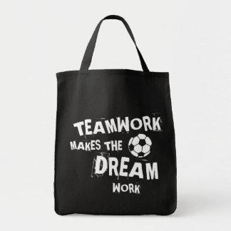Fußball-Teamwork Tragetasche