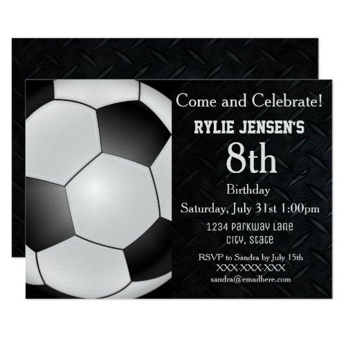 ... Fußball Themed Sport Kindergeburtstag Einladungen Einladung