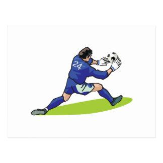 Fußball-Tormannblockdiagramm Postkarte