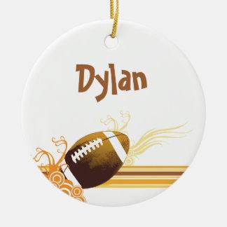 Fußball trägt Ball-Spiel-personalisierten Namen Keramik Ornament
