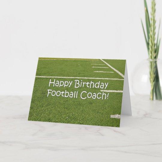 Fussball Trainer Alles Gute Zum Geburtstag Auf Karte Zazzle