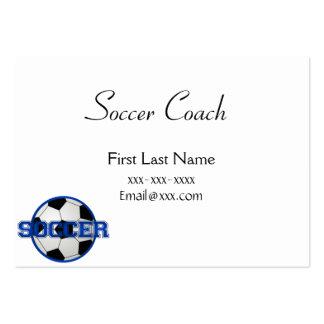 Fußball-Trainer-Blau Jumbo-Visitenkarten