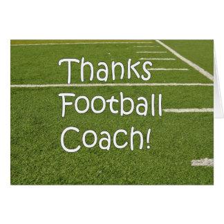 Fußball-Trainer danken Ihnen Dank auf Spielfeld Karte